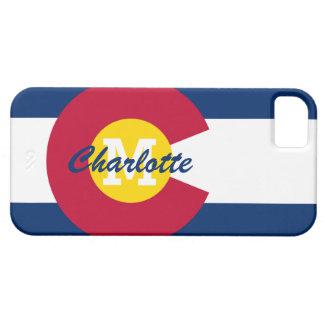 Bandera personalizada de Colorado iPhone 5 Case-Mate Protectores