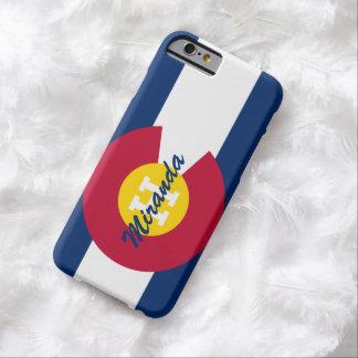 Bandera personalizada de Colorado Funda De iPhone 6 Barely There