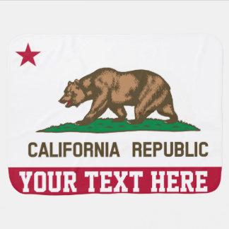 Bandera personalizada de la república de Californi Manta De Bebé