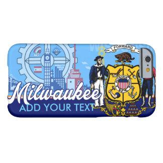 Bandera personalizada de Milwaukee Wisconsin Funda De iPhone 6 Barely There