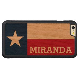 Bandera personalizada de Tejas Funda De Cerezo Bumper Carved® Para iPhone 6 Plus