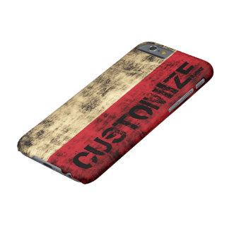 Bandera personalizada del polaco del Grunge del Funda De iPhone 6 Barely There