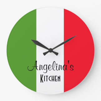 Bandera personalizada del reloj de pared redondo d