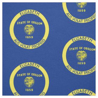 Bandera personalizada estado del castor de Oregon Telas