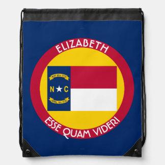 Bandera personalizada estado del talón del mochilas