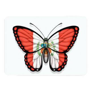 """Bandera peruana de la mariposa invitación 5"""" x 7"""""""