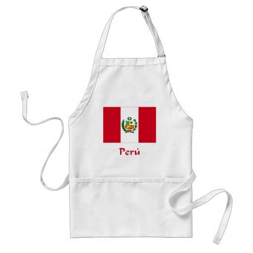 Bandera peruana delantales