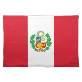 Bandera peruana en MoJo Placemat Manteles Individuales