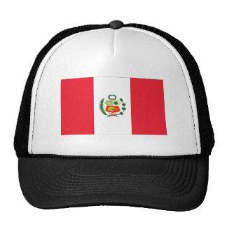 Bandera peruana gorras