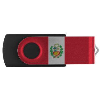Bandera peruana memoria USB 2.0 giratoria