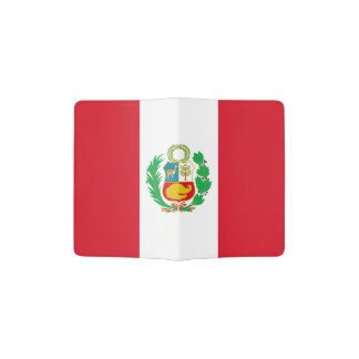 Bandera peruana porta pasaporte