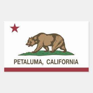 Bandera Petaluma del estado de California Rectangular Pegatinas