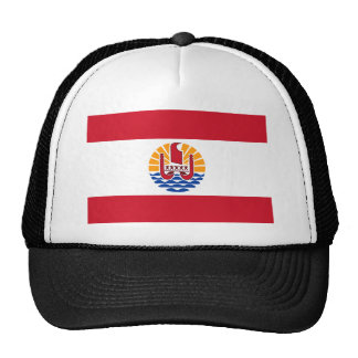 Bandera PF de Polinesia francesa Gorro De Camionero