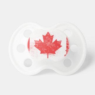 Bandera pintada salpicadura de Canadá Chupetes