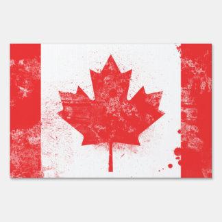 Bandera pintada salpicadura de Canadá Señal