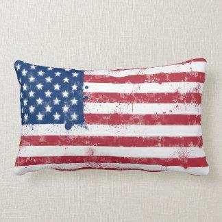 Bandera pintada salpicadura de los E.E.U.U. Cojin
