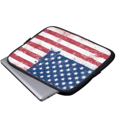 Bandera pintada salpicadura de los E.E.U.U. Mangas Computadora