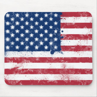 Bandera pintada salpicadura de los E.E.U.U. Tapete De Raton
