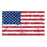 Bandera pintada salpicadura de los E.E.U.U. Plantillas De Tarjetas Personales