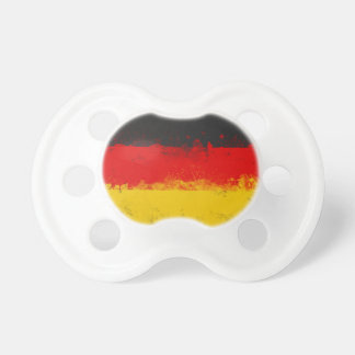 Bandera pintada salpicadura del Grunge de Alemania Chupetes De Bebé