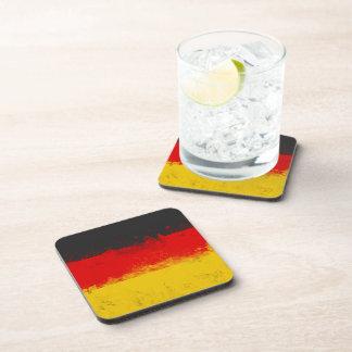Bandera pintada salpicadura del Grunge de Alemania Posavaso