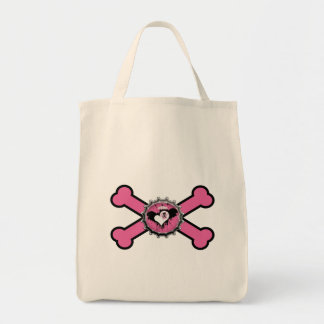 bandera pirata coa alas cráneo del rosa del bottle bolsa