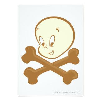 "Bandera pirata de Casper Invitación 5"" X 7"""