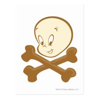 Bandera pirata de Casper Tarjetas Postales