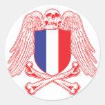 Bandera pirata de Francia Pegatinas