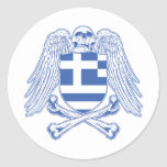 Bandera pirata de Grecia Pegatinas Redondas