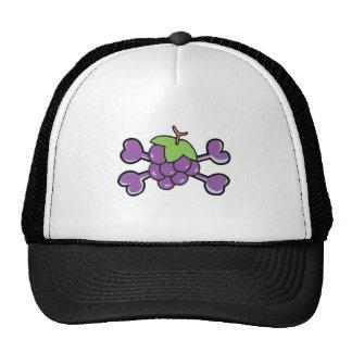 bandera pirata de la púrpura del cráneo de las uva gorra