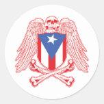 Bandera pirata de Puerto Rico Etiquetas