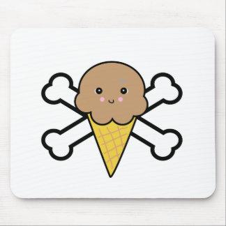 bandera pirata del cono de helado de chocolate del alfombrilla de ratones