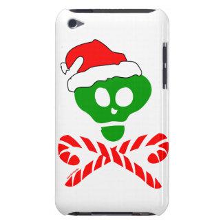 Bandera pirata del cráneo del navidad barely there iPod carcasas