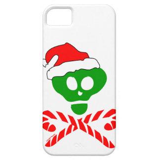 Bandera pirata del cráneo del navidad iPhone 5 carcasa