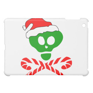 Bandera pirata del cráneo del navidad