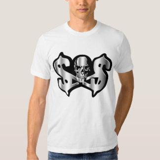 bandera pirata del Cráneo-n-dinero Poleras