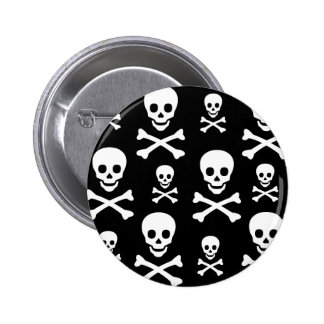 Bandera pirata del cráneo N Pin Redondo 5 Cm