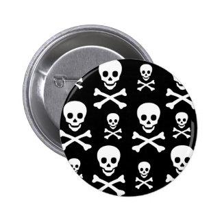 Bandera pirata del cráneo N Pin Redondo De 2 Pulgadas