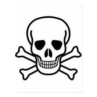Bandera pirata del cráneo x postales