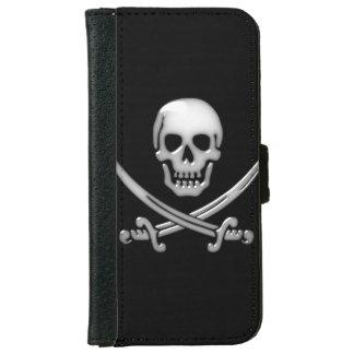 Bandera pirata del cráneo y de la espada del carcasa de iPhone 6