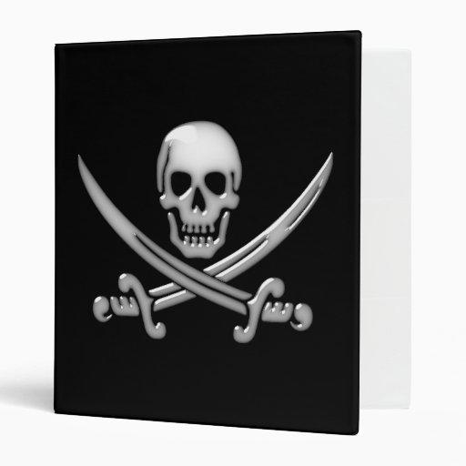 """Bandera pirata del cráneo y de la espada del carpeta 1"""""""