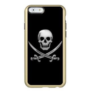 Bandera pirata del cráneo y de la espada del funda para iPhone 6 plus incipio feather shine