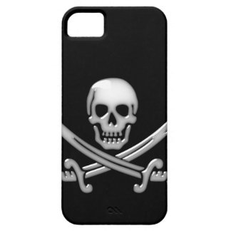 Bandera pirata del cráneo y de la espada del funda para iPhone SE/5/5s