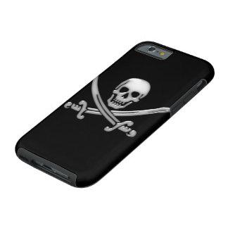 Bandera pirata del cráneo y de la espada del funda resistente iPhone 6