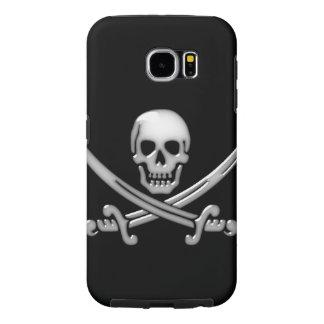 Bandera pirata del cráneo y de la espada del funda samsung galaxy s6