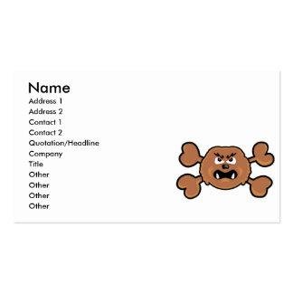 bandera pirata del marrón del cráneo del sasquatch tarjeta personal