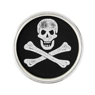 Bandera pirata del pirata del vintage insignia