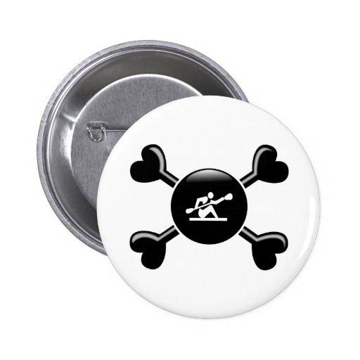 Bandera pirata Kayaking Pins
