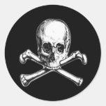 Bandera pirata pegatinas redondas